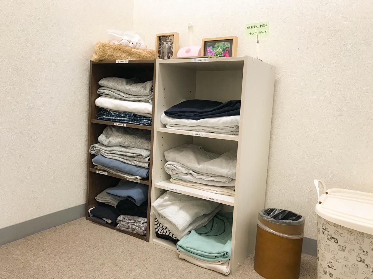 更衣室のお着替えとミニハムズ